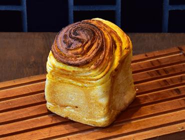 ナチュールのパン(天然酵母かぼちゃマーブル食パン)